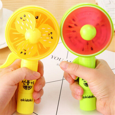 1PC Portable Mini Fruit Fan Hand Press Cooling Fan Kids Toy Gift No Battery TFHD
