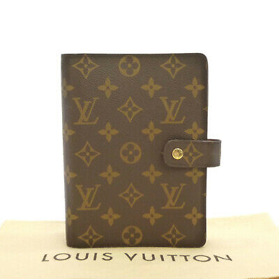 Auth LOUIS VUITTON Agenda MM Day Planner Cover Monogram Canvas R20004 #S303076