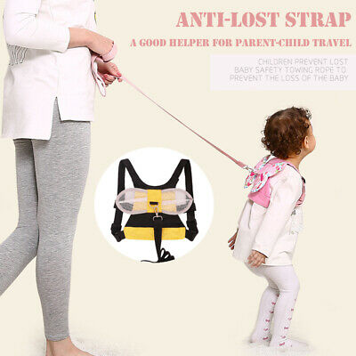 Baby Walking Harness Toddler Kids Anti-lost Safety Shoulder Strap Belt Leash CA