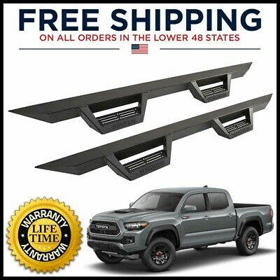 ICI Magnum RT Black Step Nerf Bars Fits 2005-2019 Toyota Tacoma Double Cab