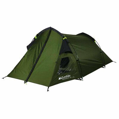 Backpacker DLX 2 Man Tent Breathable Polyester Inner with Mesh Door Green New