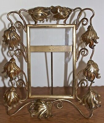 Arts And Crafts Art Nouveau Nouveau Antique Brass Photo Frame