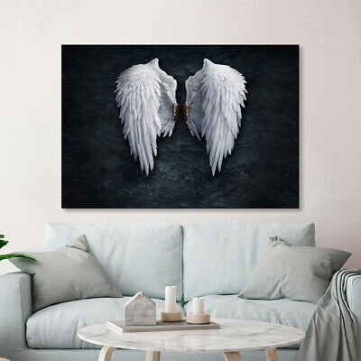 White Angel Wings Poster Abstract Art Canvas Print Nordic Decoration Picture