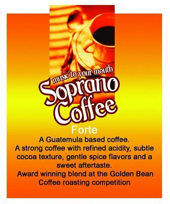 Roasted coffee beans Forte Blend Soprano Coffee
