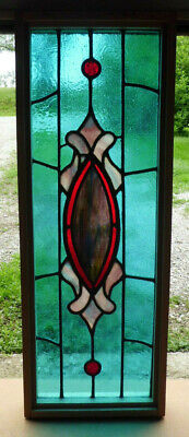 Antique Church Stained Glass Window Architectural Salvage Victorian Design W642