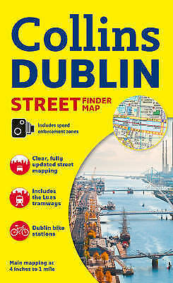 Collins Dublin Streetfinder Colour Map by Collins Maps (Sheet map, folded book,