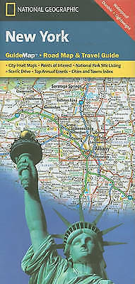 New York. State Guide Maps by National Geographic Maps (Sheet map, folded book,