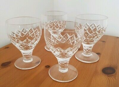 4x Vintage Stuart Crystal CANON Water Wine Champagne Coupe Goblet Glass