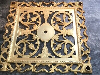 "Antique/Vintage SOLID BRASS  FLOOR Register Heat Vent Grate 12 1/2"" X 12 1/2"""
