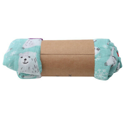 Newborn Swaddle Blanket Swaddling Cotton Printing Warm Infant Sleeping Wrap 6A