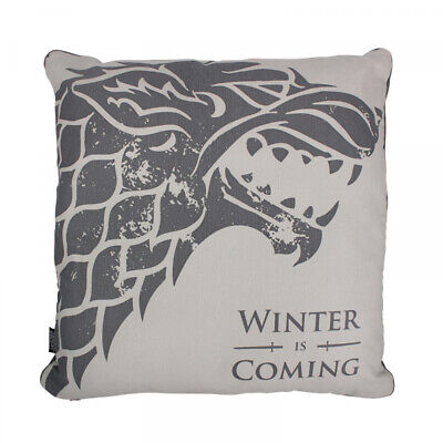 Official Game Of Thrones House Stark Winter Is Coming Large Filled Cushion
