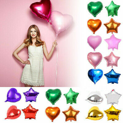 12//18//32/'/'Heart Star Shape Foil Helium Balloons Wedding Birthday Party Balloons