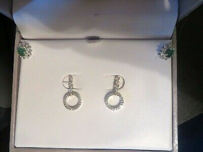3ffb0f743c6e14 NATURAL DIAMOND CONVERTABLE halo earring jackets .50tcw 14k white ...