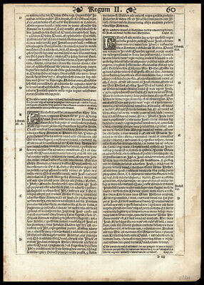 1539 Latin Bible Leaf Lot (3) 2nd Kings 4-13 and Book of Isaiah Chapters 62.- 66