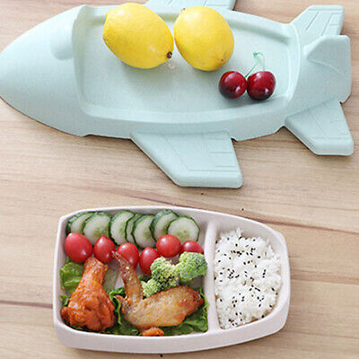 Airplane Plates Dinner Food Tea Coffee Dessert Serving Plate Dish Child Tray 6A