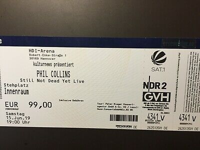 Karte für PHIL COLLINS Konzert Stil Not Dead Yet live in Hannover