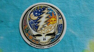 Grateful Dead Night/Day Celestial Steal Your Face MINI 2.5 Inch Window Sticker