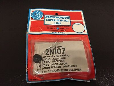 Vintage GE 2N107 Germanium Transistor in Experimenter Package