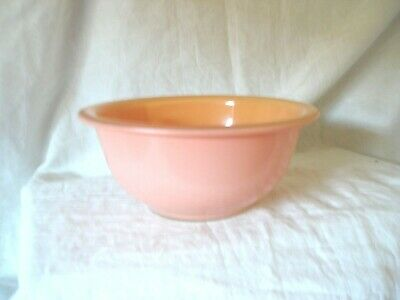 "Vintage PYREX 7"" Peach/Pink Clear Bottom 1L Mixing Bowl"