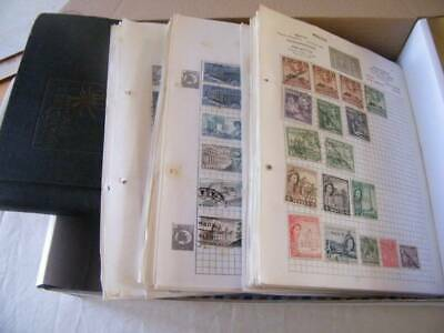 World Hoard in Box, Includes Large Quantity of Album Pages. Ref-106