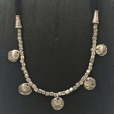 Thailand Hill Tribe - Antique Silver Handmade Beaded Tribal Necklace - EXQUISITE