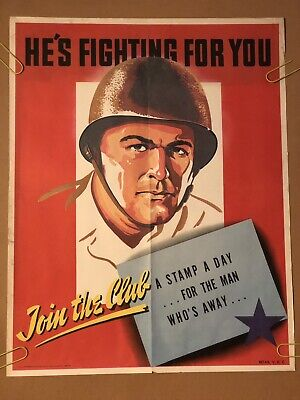 He's Fighting For You Join The Club Original Vintage Poster Pin Up 1970s