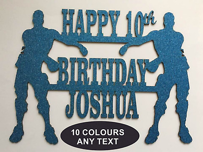 FORTNITE Cake Birthday Fans Gamers Personalised Topper Decorations 550GSM