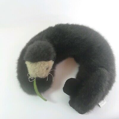 Warm Whiskers Plush Otter Heated Neck Warmer Wrap Pillow Microwaveable