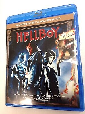 Hellboy 1 Blu-ray+Hellboy 2 II DVD Double Feature 2019 *LIKE NEW* FREE SHIPPING!
