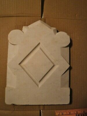 #3 Antique Carved Marble fireplace CREST/PLAQUE Architectural Salvage garden NYC