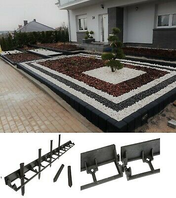 Flexible Garden Lawn Grass Edge Border 45 Height 5m Length +15 strong Pegs 235cm