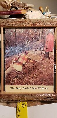 Hunting cabin  wooden wall art sign man cave decor vintage