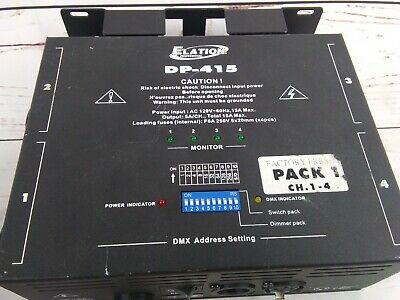 Elation DP-415 Four Channel DMX Dimmer Switch Pack