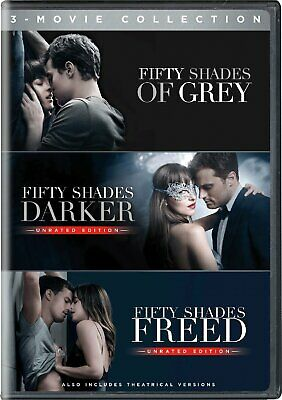 Fifty Shades Of Grey Trilogy 3 Movie Collection DVD Color Subtitled Widescreen