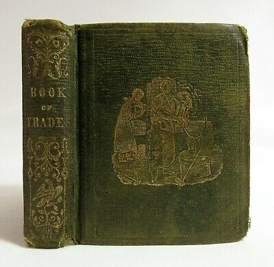 Antique 1800's THE BOOK OF TRADES American Children's MINIATURE Woodcuts RARE