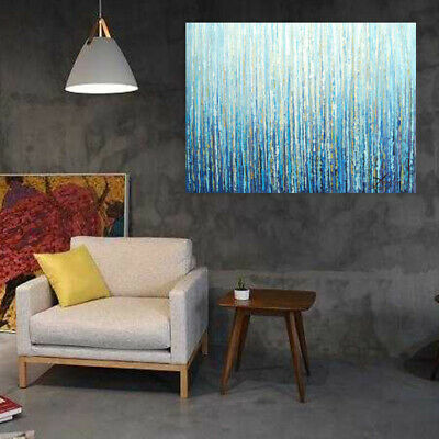 Hand-Painted Art Canvas Oil Painting - Forest | Abstract Wall Decor Framed