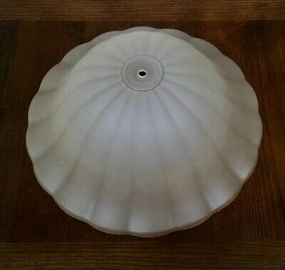 Vintage Frosted Glass Heavy Dome Art Deco Large Ceiling Light Shade Cover