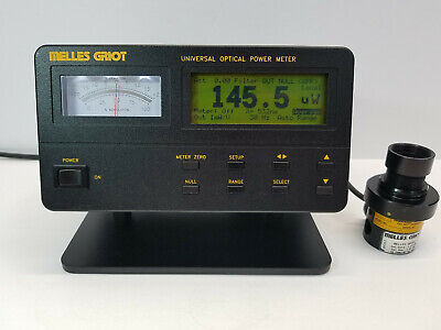 MELLES GRIOT 13PDC001 Universal Optical Power Meter w/ 13PDH001 Detector