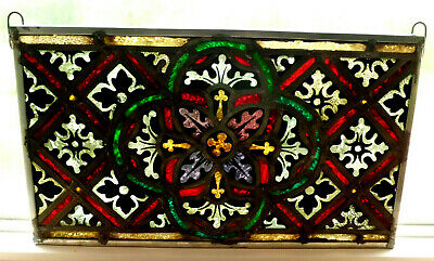 Antique Church Stained Glass Window Architectural Salvage Innsbruck Tyrolean 660