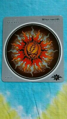 Grateful Dead Steal Your Face Sun Double Sided 4.5 Inch Window Sticker