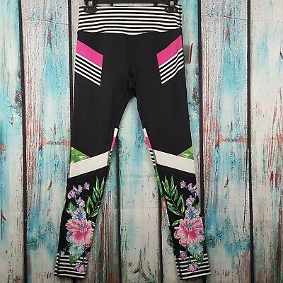 b379318d9a61b NWT MATERIAL GIRL Junior's Leggings Cropped Tropical Print Yoga Fitness  Active