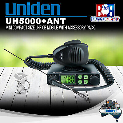 Uniden UH5000+ANT 80 Channels Mini Compact Size UHF CB Mobile with AT380 Antenna