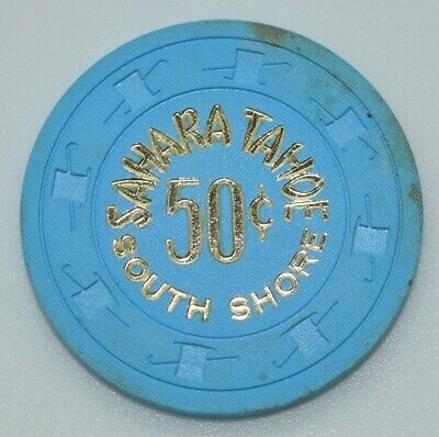 Sahara Tahoe 50¢ Casino Chip Lake Tahoe Nevada H&C Paul-son Mold 1980's