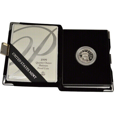 1999-W American Platinum Eagle Proof 1/4 oz $25 in OGP