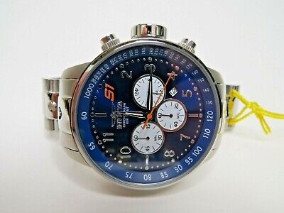 Invicta Men's S1 Rally Chronograph Watch Blue Dial Stainless Steel 23080 48mm