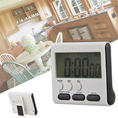 Magnetic Large LCD. Digital Kitchen Cooking Timer Loud Alarm Count Up Down Clock