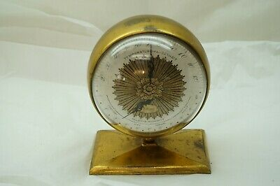 Vintage Barometer Thermometer Hygrometer Wittnauer Weather Key Humitherm Globe