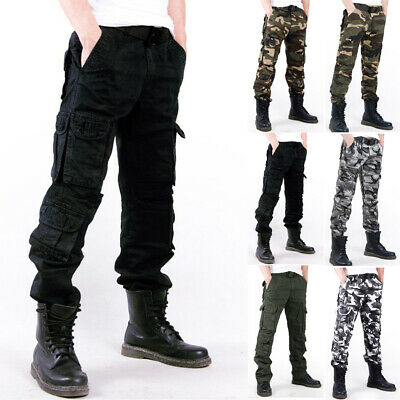 New Combat Mens Cotton Cargo ARMY Pants Military Camouflage Camo Trousers Hot