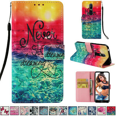 Magnetic PU Leather Stand Wallet Case Cover for Nokia 2.1 3.1 5.1 6.1 7.1 7 Plus