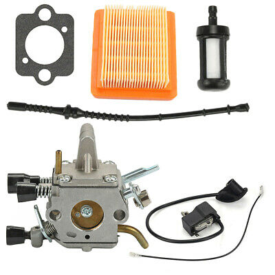 Fuel Line Ignition Coil Air Filter Carburetor Replacement For Stihl FS300 FS350